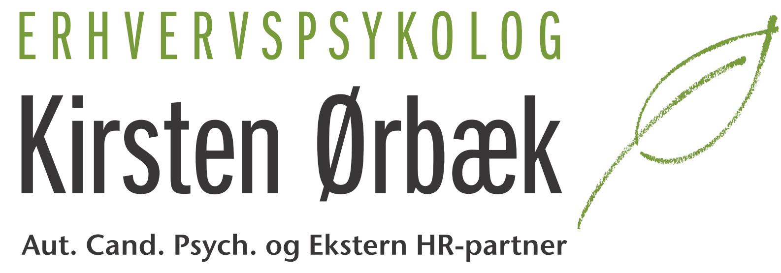 Kirsten Ørbæk, Erhvervspsykolog